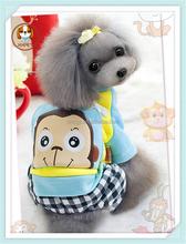 Stylish monkey patterns warm dog apparel dog clothes cheap
