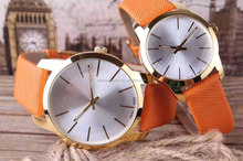 new colors new band grain leather band casual lovers gift watch