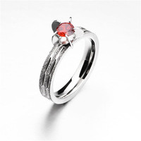 Yiwu Aceon stainless steel Cheap Diamond Wedding Lucky Band children ring