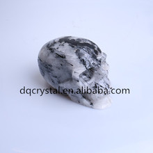 new arrival rock tourmaline crystal skull