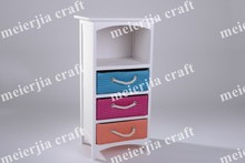 tall colorful drawer wooden cabinet
