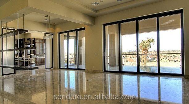 China wood grain aluminium patio sliding door aluminum for Solid wood patio doors