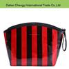 2015 hot sale Customized unique stripe chevron pu Smart Makeup Bag