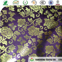 new design polyester and rayon with foil for wardrobe