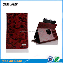 for ipad air genuine leather cover /mobile phone accessory for ipad air genuine leather cover