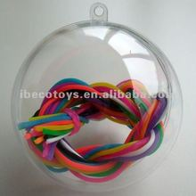 12cm clear plastic ball container