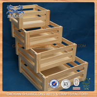 new design antique cheap wooden wine /bottle crate