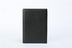 Brown passport case wallet zippered passport case
