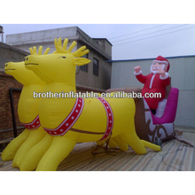 X-mas Giant Inflatable Santa with Milu Deer Model