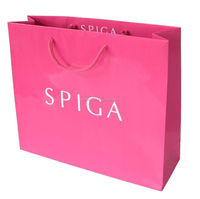 luxury laminationed gift paper bags, shopping paper bags