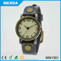 retro lady quartz leather watch