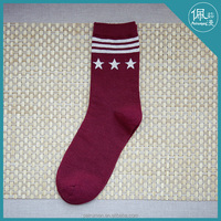 100% cotton men terry socks for warming in the winter