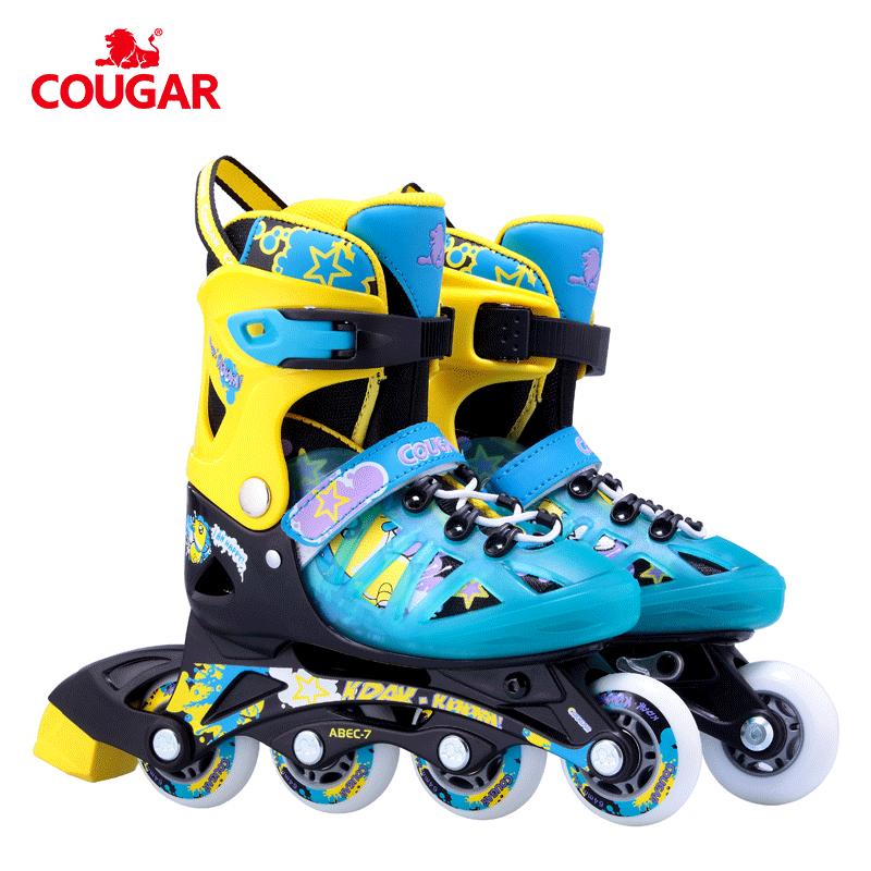 Nuovo design cougar 3 ruote pattini in linea pattini un rotelle disponibili per i bambini