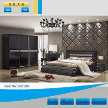 Black king size cost-effective classic bedroom set furniture