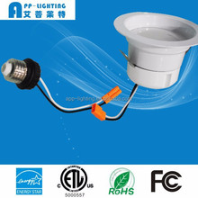 ETL Energy Star 4inch 12W smooth dimmable LED recessed can trim kit