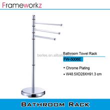 Morden design metal bathroom accessories standing towel racks