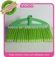 sweep broom with 1.2m wood handle ,plastic broom ,new 802