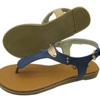 2015 famous summer cheap flat leather ladies sandals shoes for women shoes