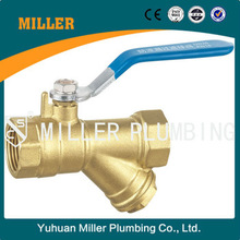 Dn80 steel handle long service life BSP thread brass filter valve ml-2034