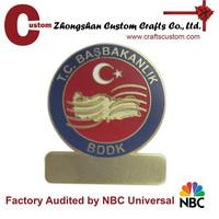 Hard enamel name plate badge supplier
