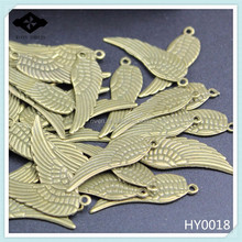 HY0018 DIY Alloy jewelry findings Antique Bronze Charms Angel Wings pendant accessories