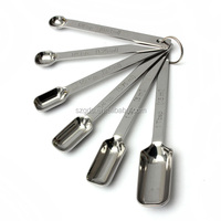 In stock stainless steel measuring cups and spoons set square coffee measuring spoon