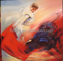 colorful abstract Spanish bullfight decorative oil painting for living room
