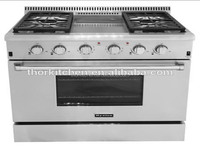 2014 HOT-SELLING HYXION steel gas range top grill with oven