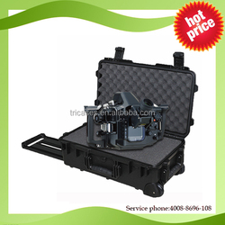 2015 top quality hard plastic equipment protective case with wheels