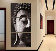High Quality Hand-painted Group Oil Painting 3 Panel Wall Art Religion Buddha Oil Painting
