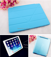 Foldable slim smart protective tablet case for iPad Air(Sky Blue)