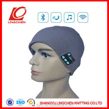 2015 fashion colorful knitted hat with wireless function