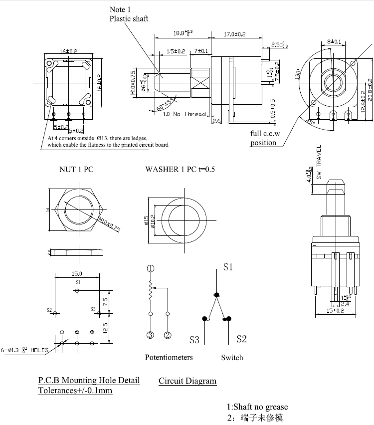 Unique potentiometer circuit diagram illustration wiring diagram 10a dimmer switch linear potentiometer b500k pcb mount linear rotary asfbconference2016 Choice Image