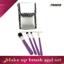 Customized custom bag make up brush sets