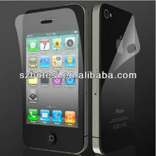 factory directly, 100% brand new, for iphone 4 front and back screen protector, clear/matte/mirror/diamond/privacy/silk printed