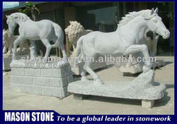 Famous white marble horse statue
