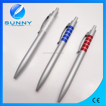 hot sale silver plastic ball pen,retractable ball pen for promotional