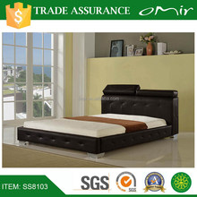ikea simple design cheers leather bed furniture SS8103