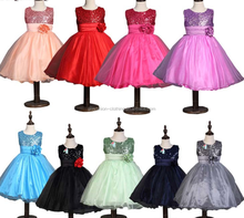 Boutique girl princess dresses sequin sweet dress fashion wedding Dress