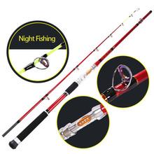 cheap spinning fishing rod carbon firber fishing pole night light fishing gears tackle