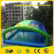 Good package on time delivery 0.6/0.9mm tickness PVC tarpaulin inflatable water swim pool