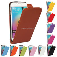 Hot selling cowhide flip leather genuine real leather case cover for samsung s6 / s6 edge accpet OEM