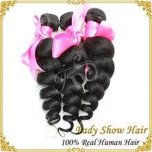 6A grade brazilian natural black virgin hair weave loose wave weaving human hair extension