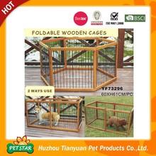 Foldable Wooden Dog Playpen