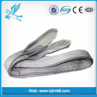 10ton lift, custom heavy duty weight lifting straps, lifting belt crane webbing sling safety factor 6 material