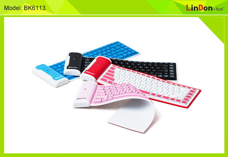 China Shenzhen Hot Sell for ipad mini rubber bluetooth keyboard BK6113
