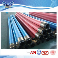 Manufacture steel wire reinforced concrete pump rubber end hose