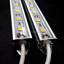 Shenzhen Factory supply high quality 5050 waterproof led rigid bar ip68 12v 24v 1m/pcs