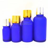 30ml beautiful frost matte rubber tip vial glass dropper bottle