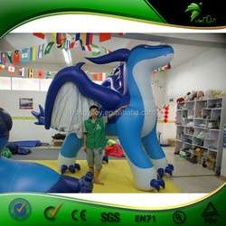 The Most Interesting Giant Inflatable Blue Dragon With Flying Wings